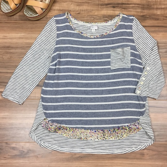 Anthropologie Tops - Anthropologie Postmark Striped Top
